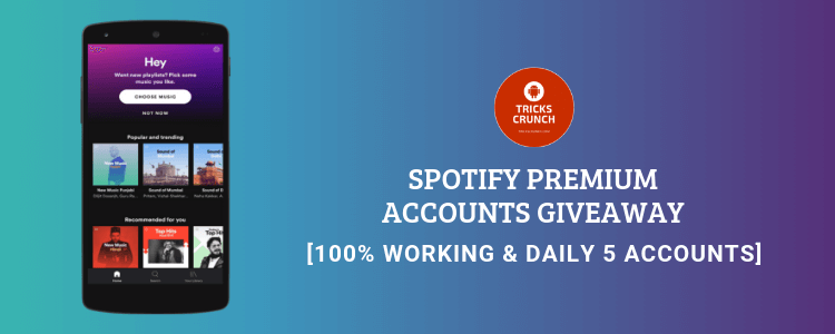 Spotify Accounts Giveaway