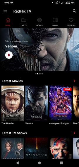 Netflix Mod RedflixTV Apk [New v2 0] - Tricks Crunch